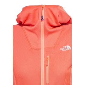 The North Face FuseForm Dolomiti 1/4 Zip Hoodie Women radiant orange fuse
